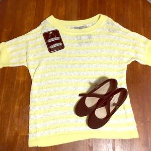 Andrew Mark Yellow Knit Sweater 💛